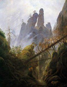 Caspar David Friedrich - Felsenschlucht im Harz