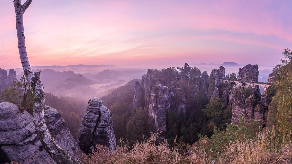 Sonnenaufgang in der Bastei - ein Traumhafter Amblick!