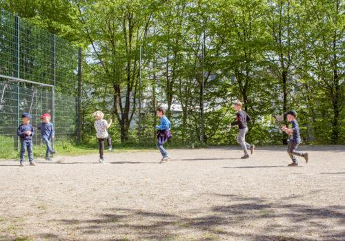 Fototagebuch Dominic Marcelino - Fußballspielende Kinder
