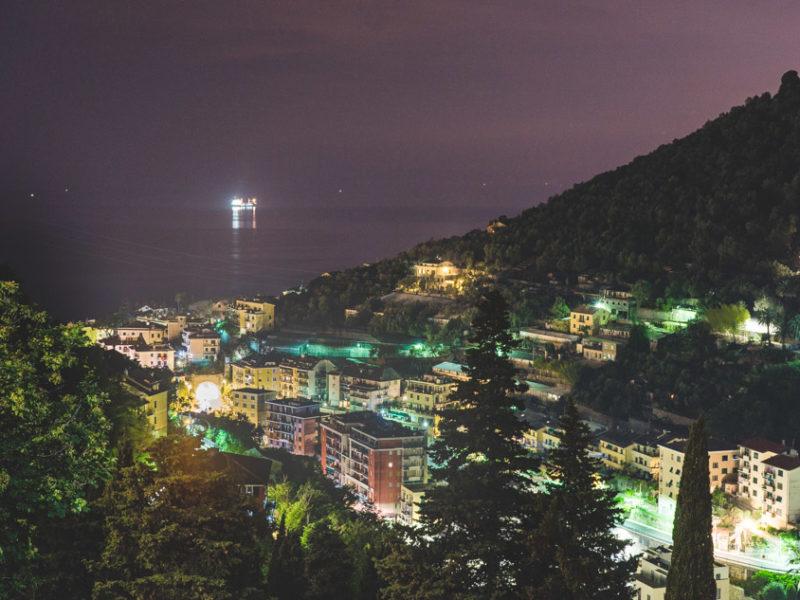 Bogliasco (Genua) Bei Nacht