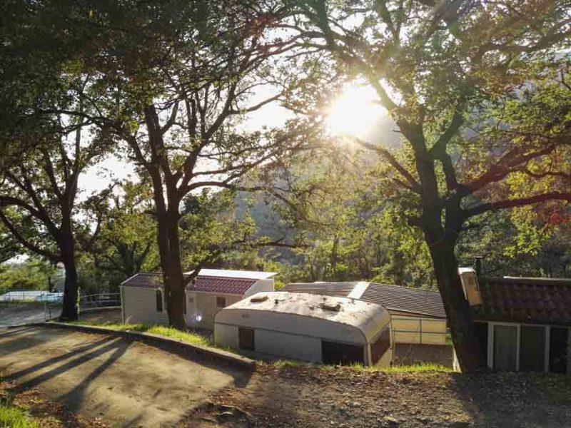 Sonnernunternagn am Campingplatz in Italien