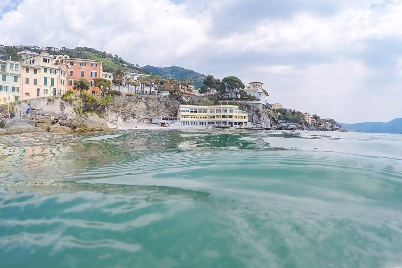 Strand Bogliasco, Genua - Idyllische Stadt In Italien