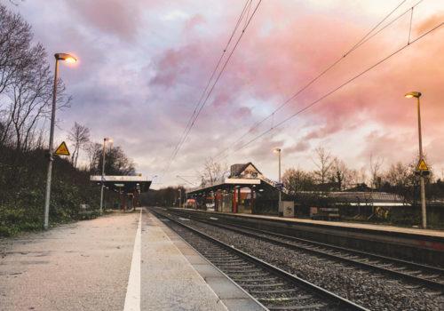 Fototagebuch - Sonnenuntergng über D Hauptbahnhof Gevelsberg