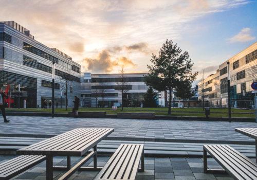 Fototagebuch - Sonnenuntergang über Der HS Düsseldorf
