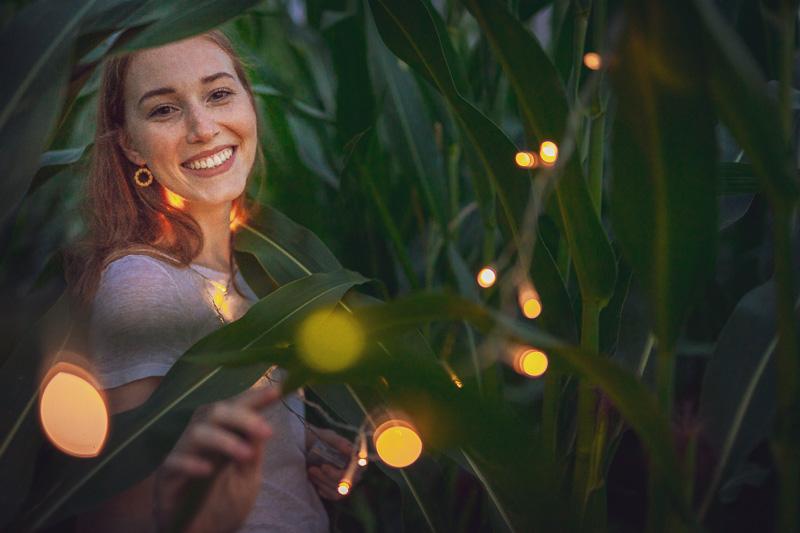 Kreative Portraitfotografie – Portraits Mit Lichterketten